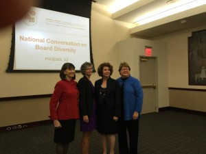 "Shirley with conference organizers at the November 19, 2015 Phoenix 2020 Women on Boards ""National Conversation on Board Diversity"" event."