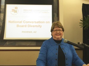 "Shirley spoke at the November 19, 2015 Phoenix 2020 Women on Boards ""National Conversation on Board Diversity"" event."